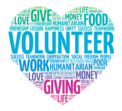 Wordcloud for Volunteering